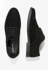 YOURTURN - Smart lace-ups - black - 1
