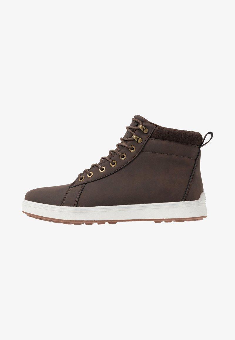 YOURTURN - Sneakersy wysokie - dark brown