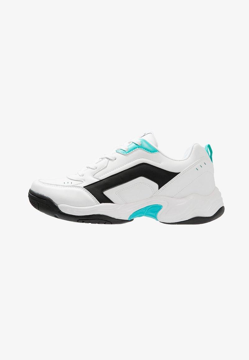YOURTURN - Sneakersy niskie - white/turquoise