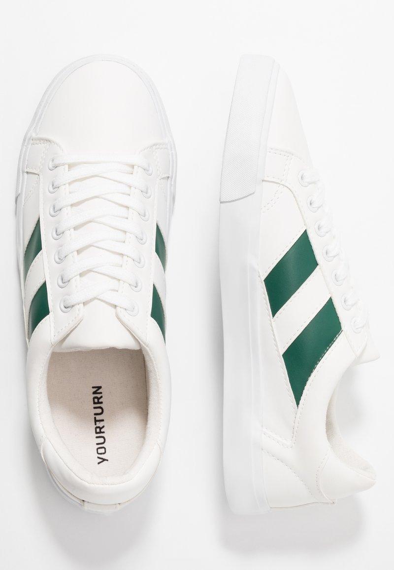 meccanismo trasferimento di denaro Scherzo  YOURTURN Sneakers basse - white/green - Zalando.it