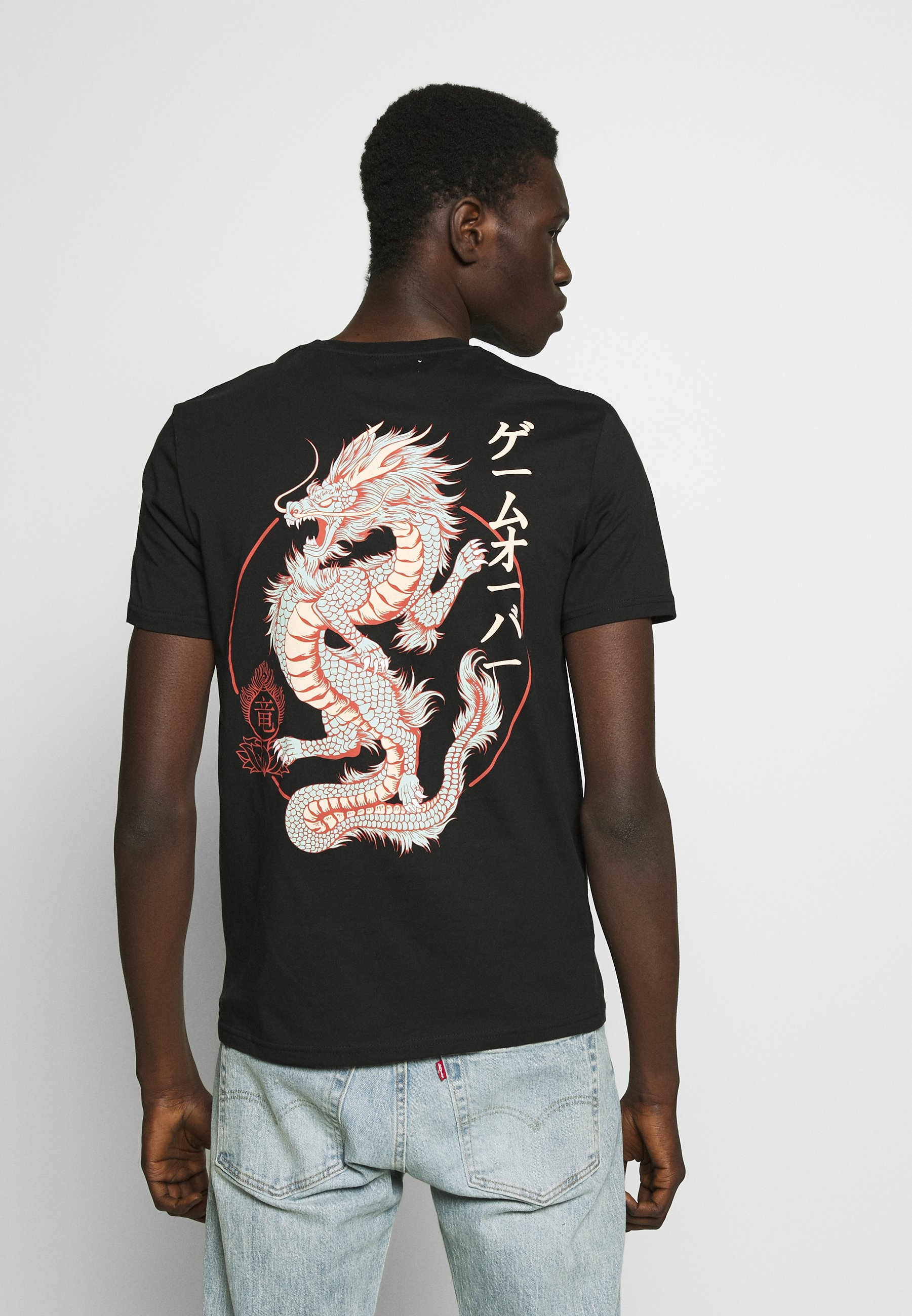 YOURTURN T-shirt z nadrukiem - black