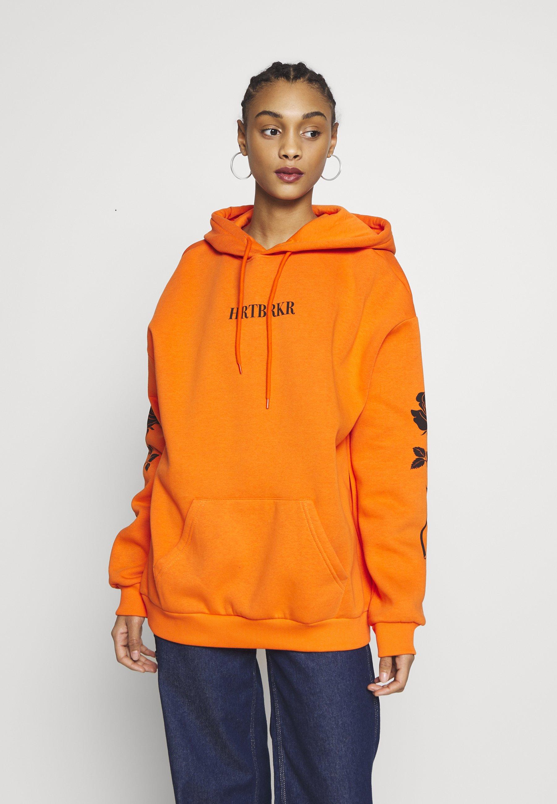 YOURTURN Bluza z kapturem - orange