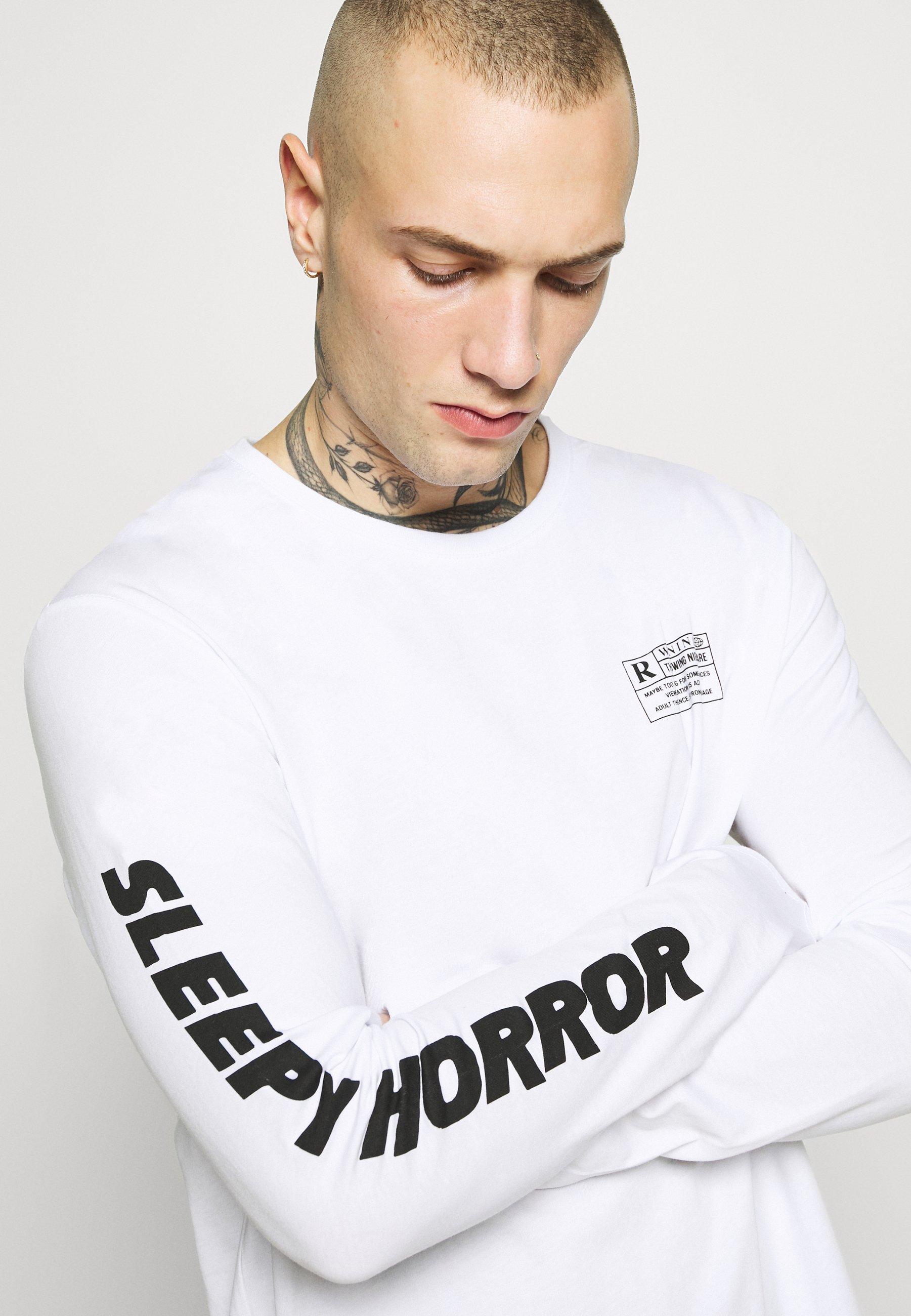 YOURTURN Bluzka z długim rękawem - white