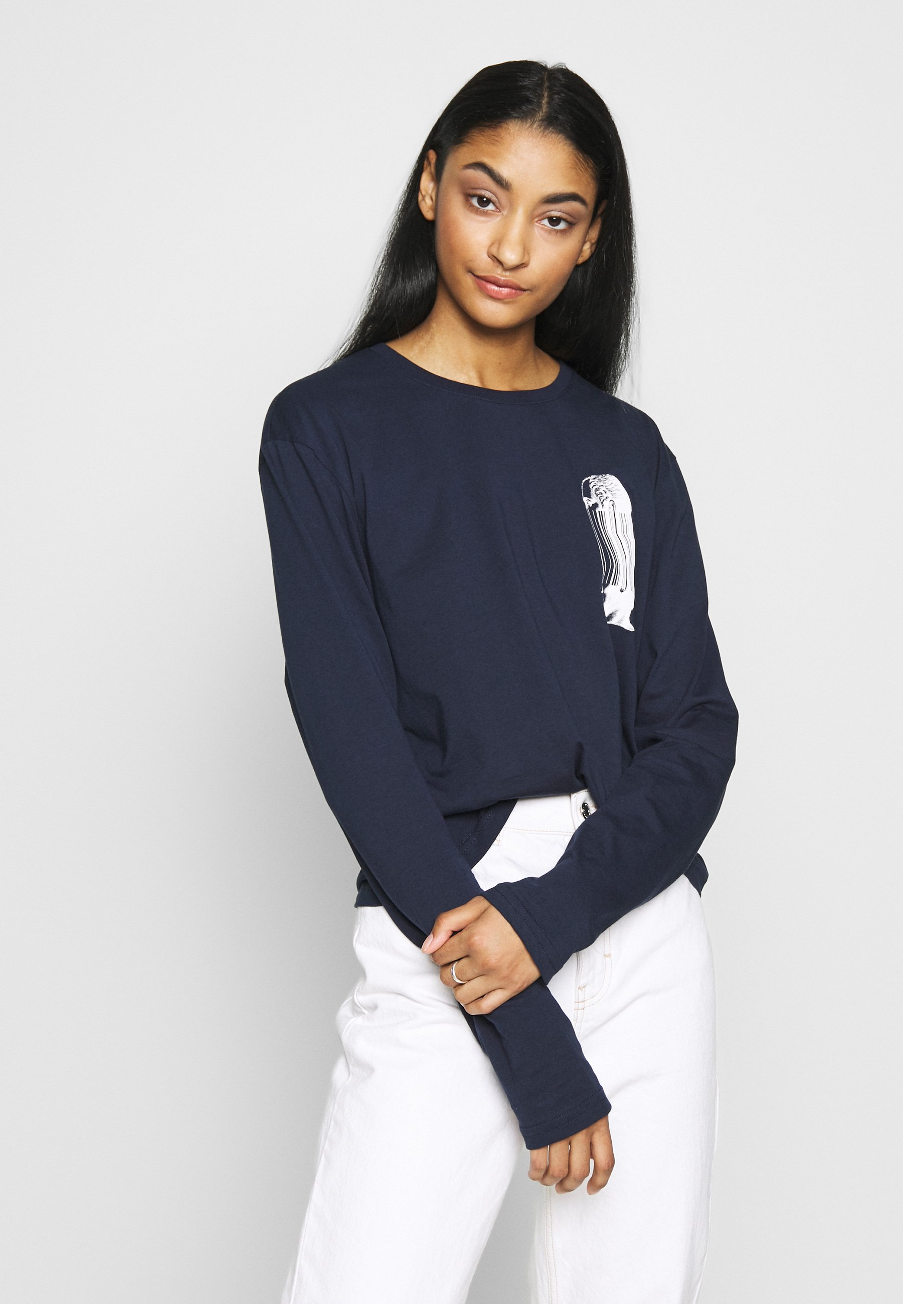 YOURTURN Long sleeved top - dark blue