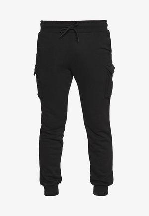 UNISEX - Tracksuit bottoms - black