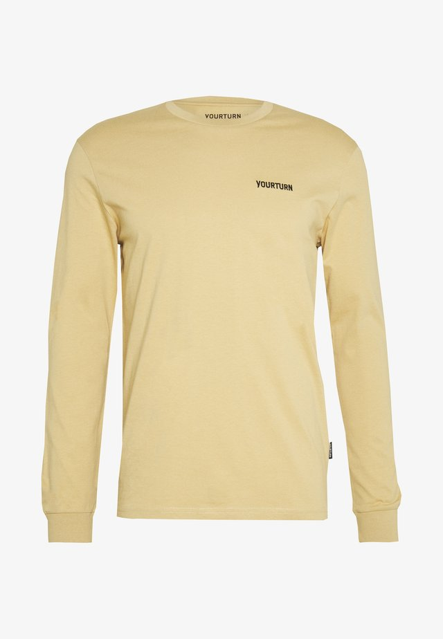 Long sleeved top - tan