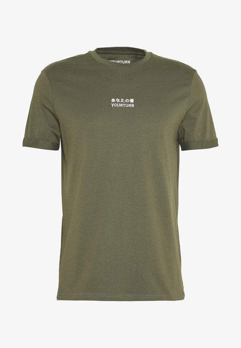YOURTURN - Print T-shirt - olive