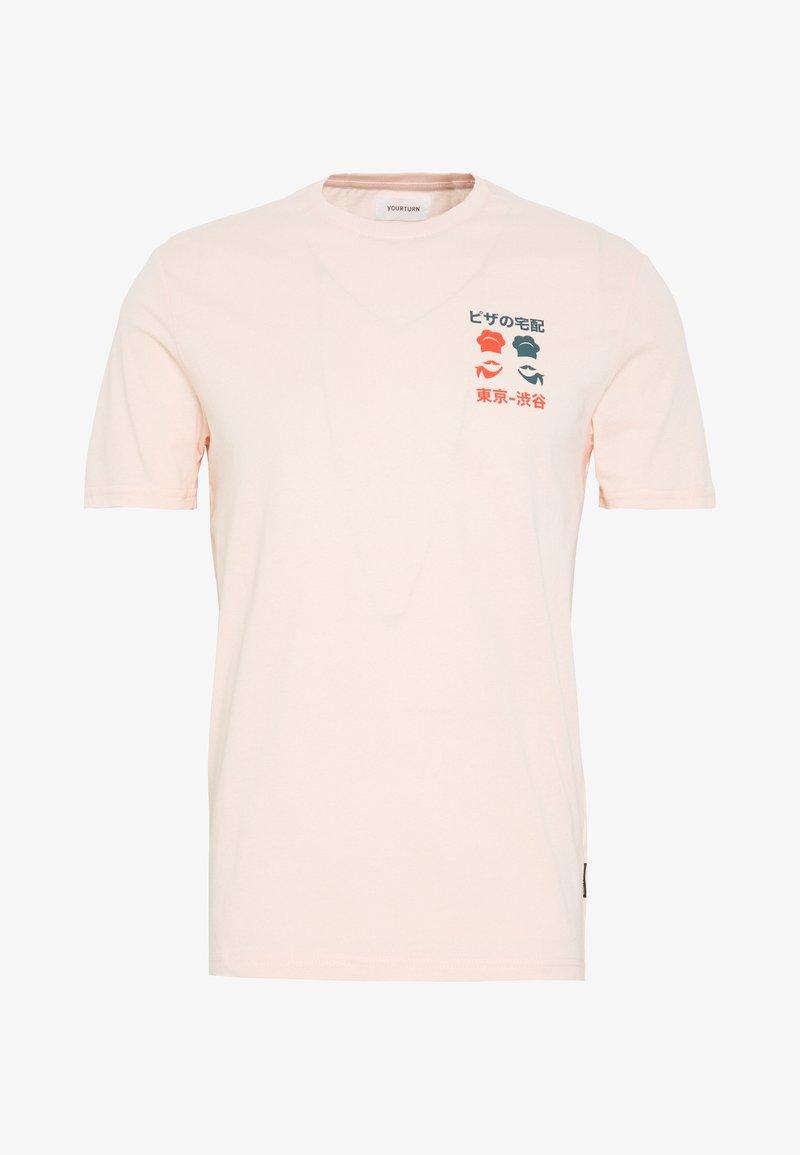 YOURTURN - Print T-shirt - pink