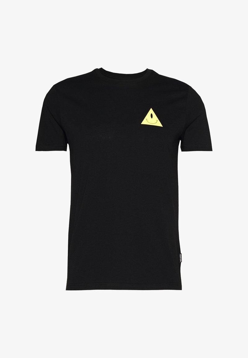 YOURTURN - UNISEX EYE TEE - Print T-shirt - black