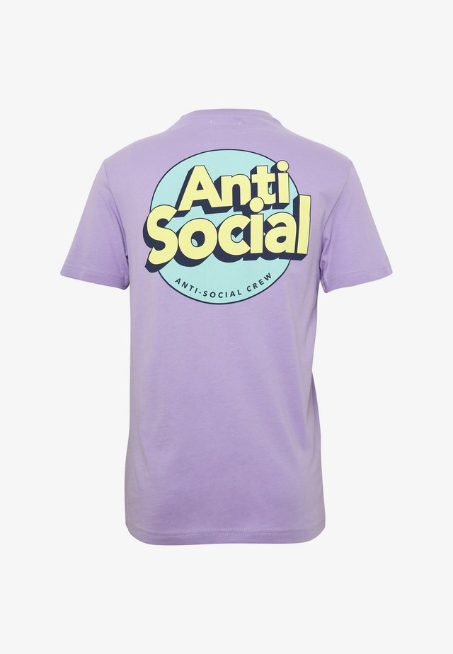UNISEX ANTI SOCIA - T-shirts print - lilac