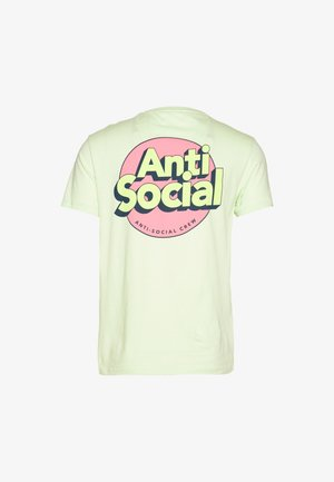 UNISEX ANTI SOCIA - T-shirts print - light green