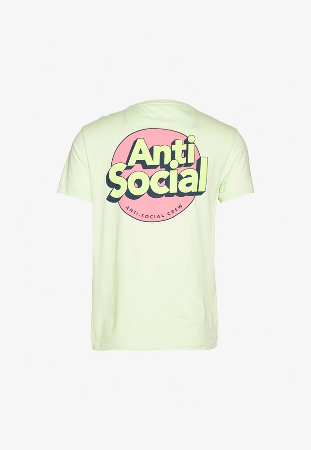 UNISEX ANTI SOCIA - T-shirt imprimé - light green