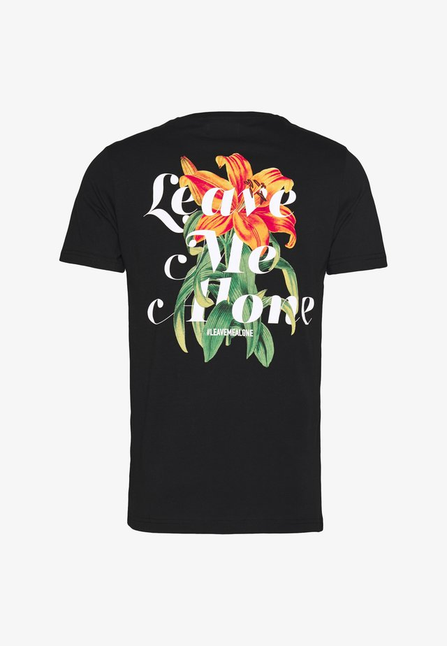 UNISEX ALONE TEE - T-shirt z nadrukiem - black