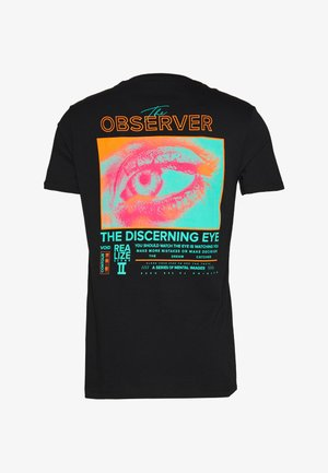 UNISEX OBSERVER  - T-shirt con stampa - black
