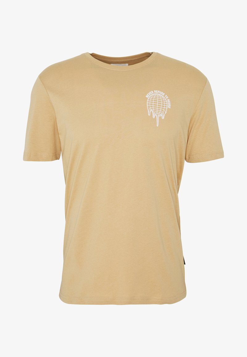 YOURTURN - Print T-shirt - tan