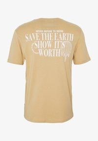 YOURTURN - Print T-shirt - tan - 1