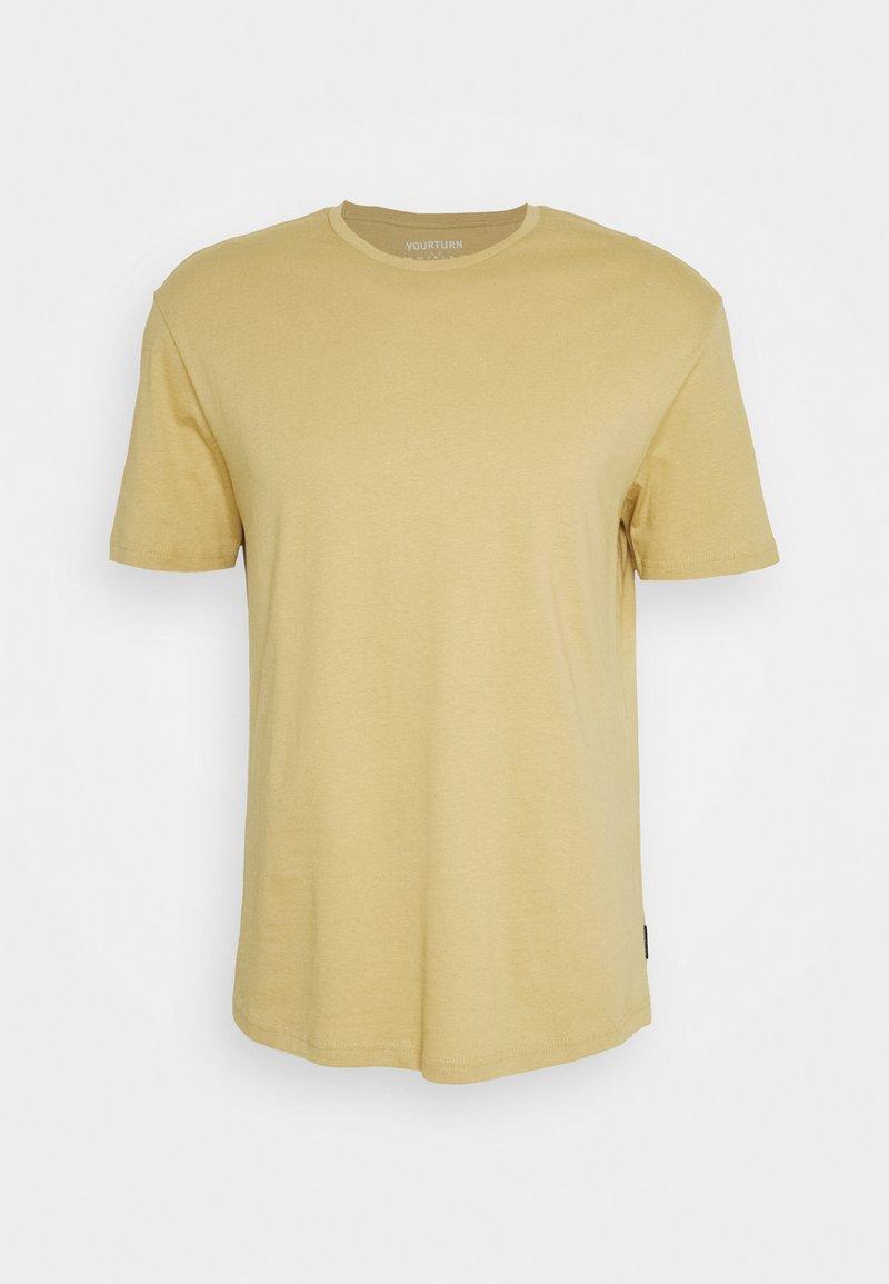 YOURTURN - Basic T-shirt - tan