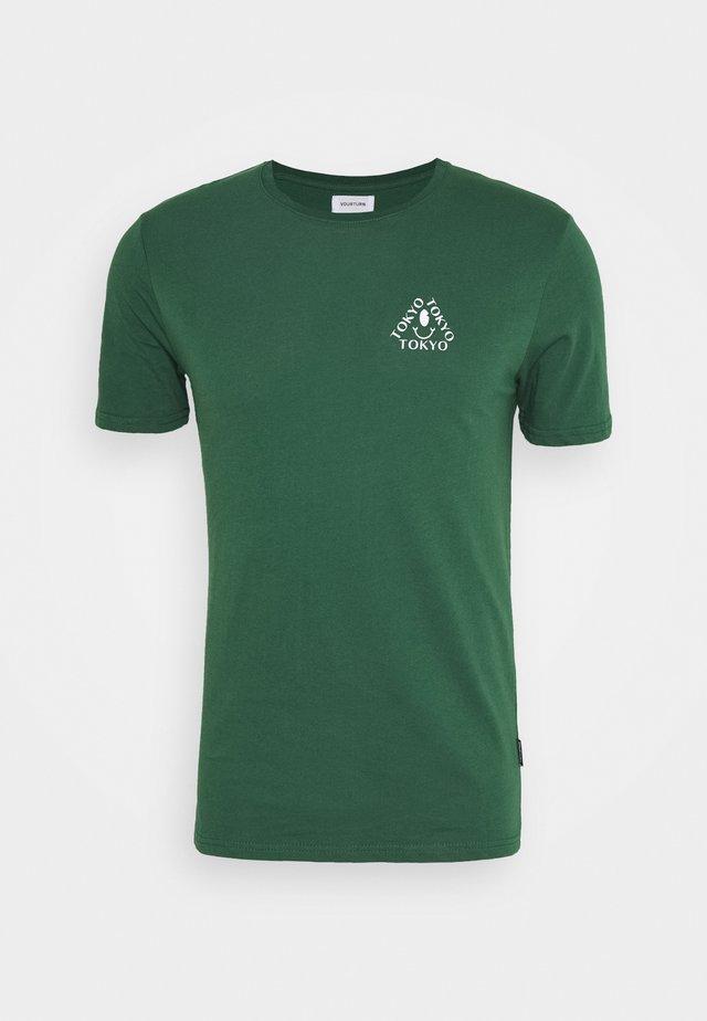 UNISEX - Print T-shirt - dark green