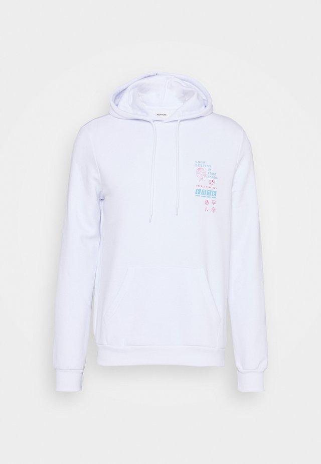 UNISEX - Jersey con capucha - white