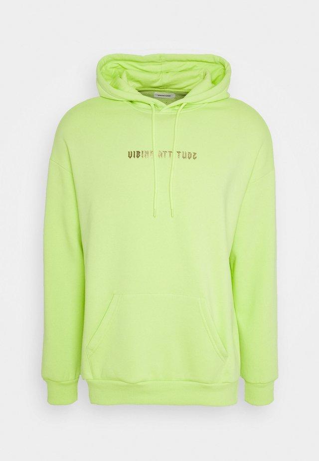 Felpa con cappuccio - neon green