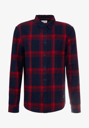 Shirt - dark blue/red