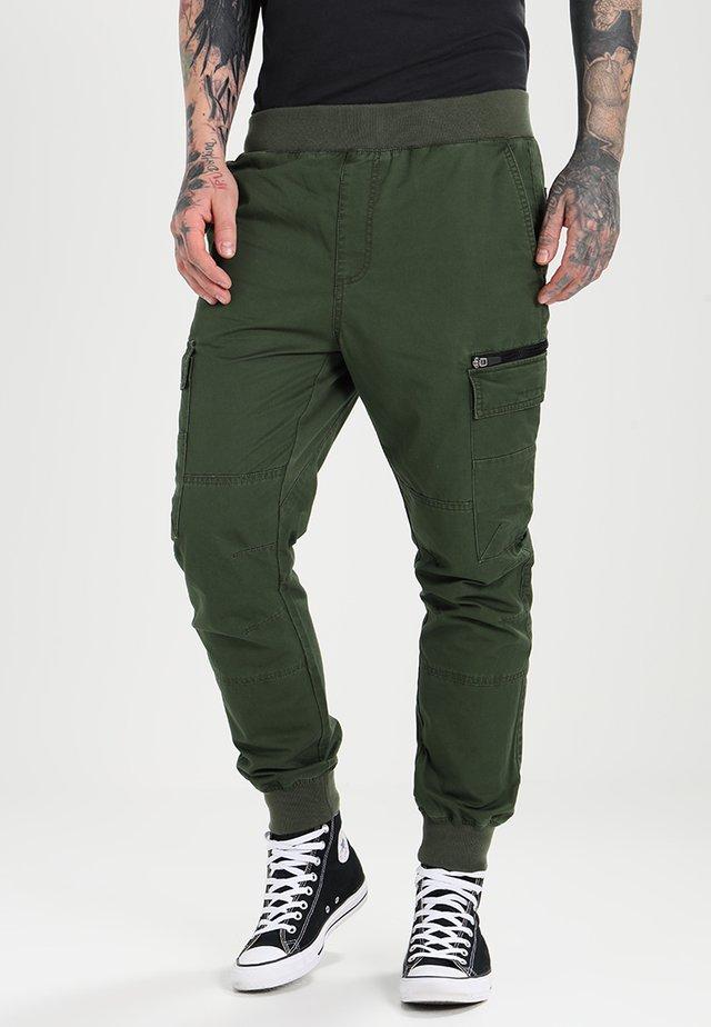 Pantalones cargo - dark green