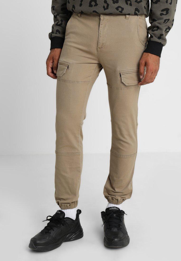 YOURTURN - Pantalones cargo -  stone