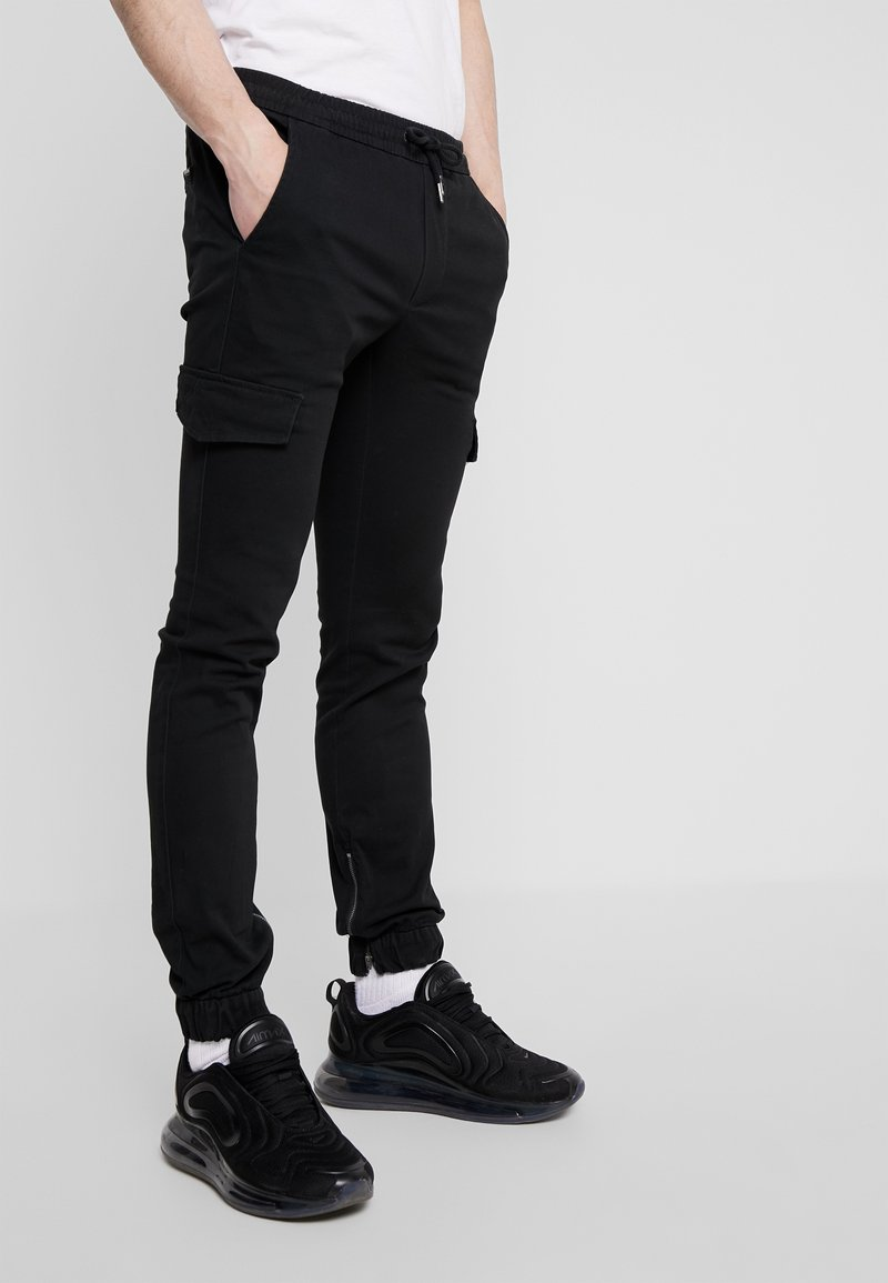 YOURTURN - Cargo trousers - black