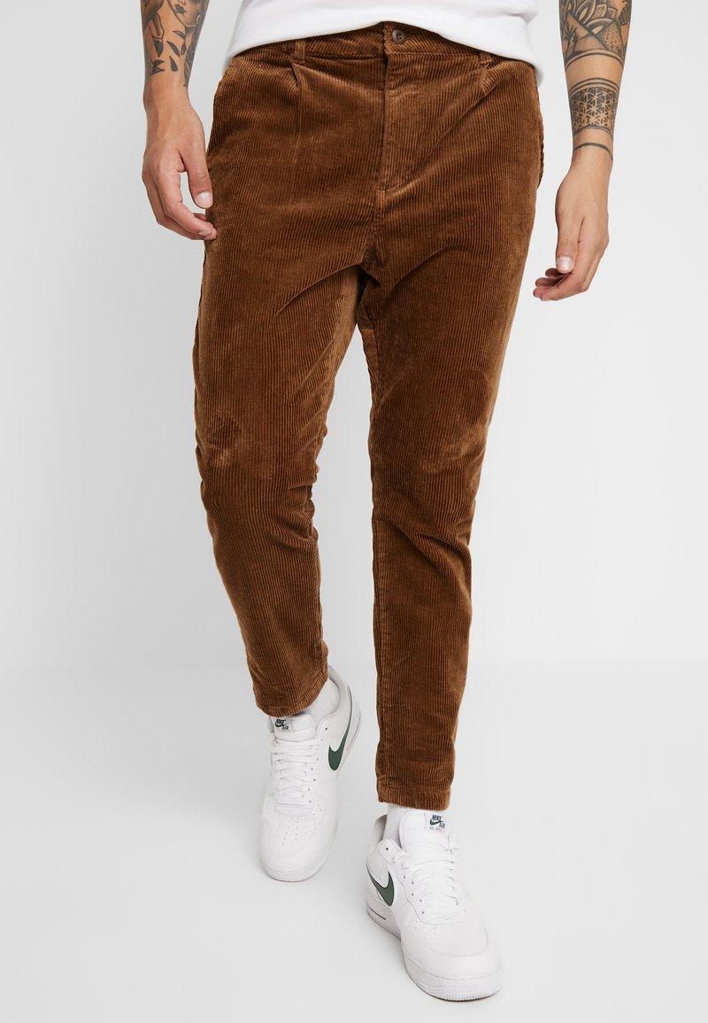YOURTURN - Trousers - cognac