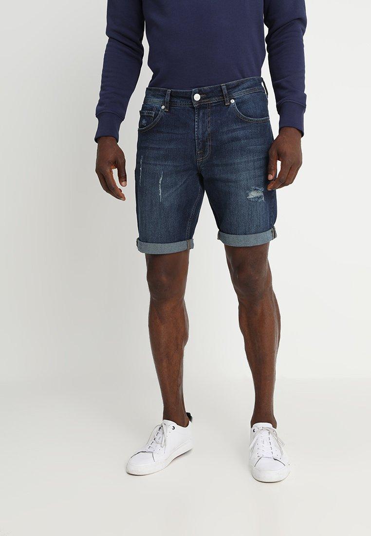 YOURTURN - Jeans Shorts - dark blue denim