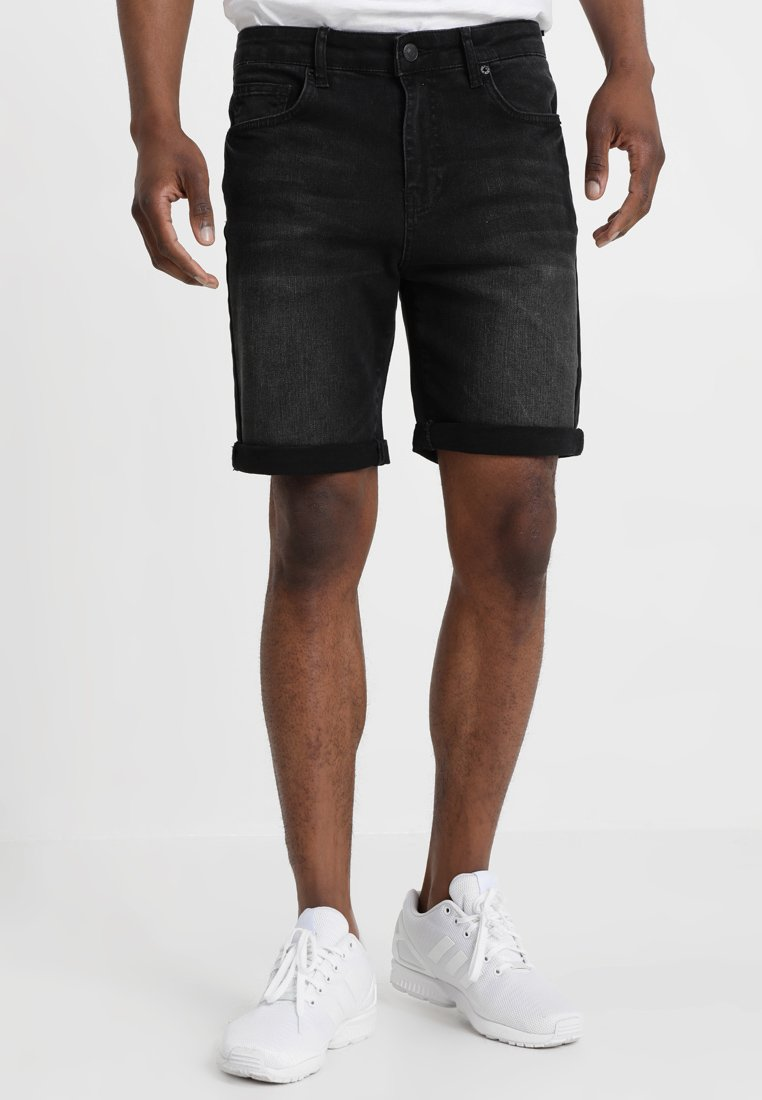 YOURTURN - Jeans Shorts - black denim