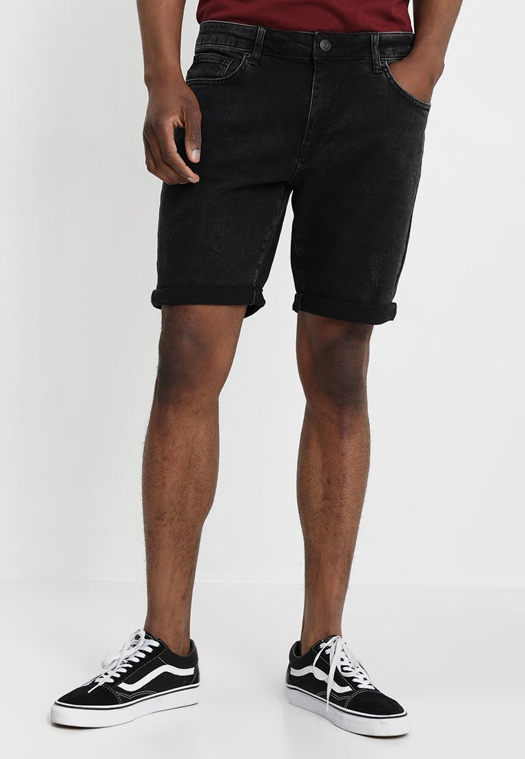 YOURTURN - Denim shorts - black denim