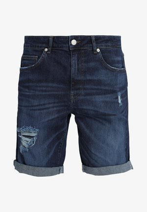 Shorts vaqueros - dark-blue denim