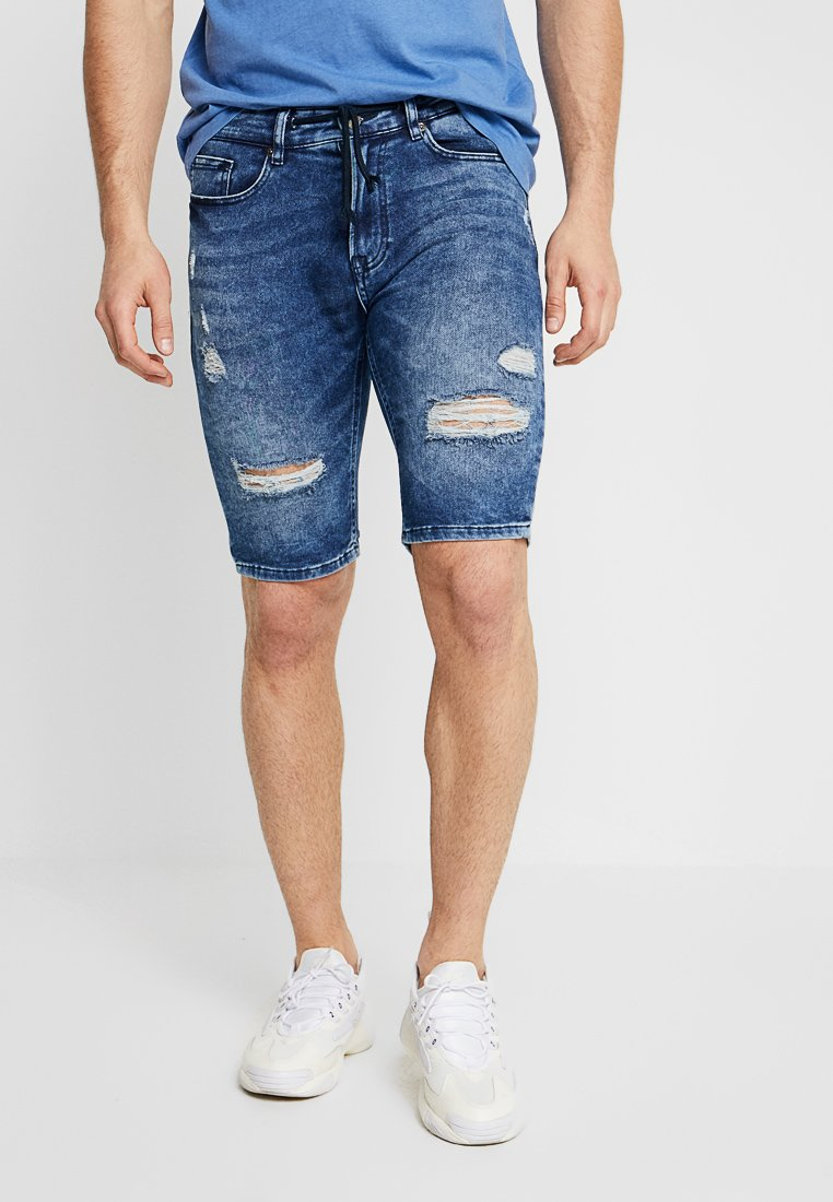 YOURTURN - Jeans Shorts - blue denim