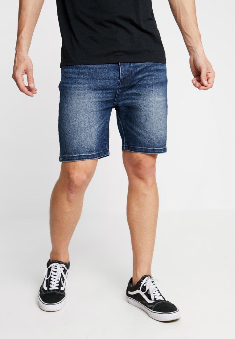 YOURTURN - Denim shorts - dark blue denim