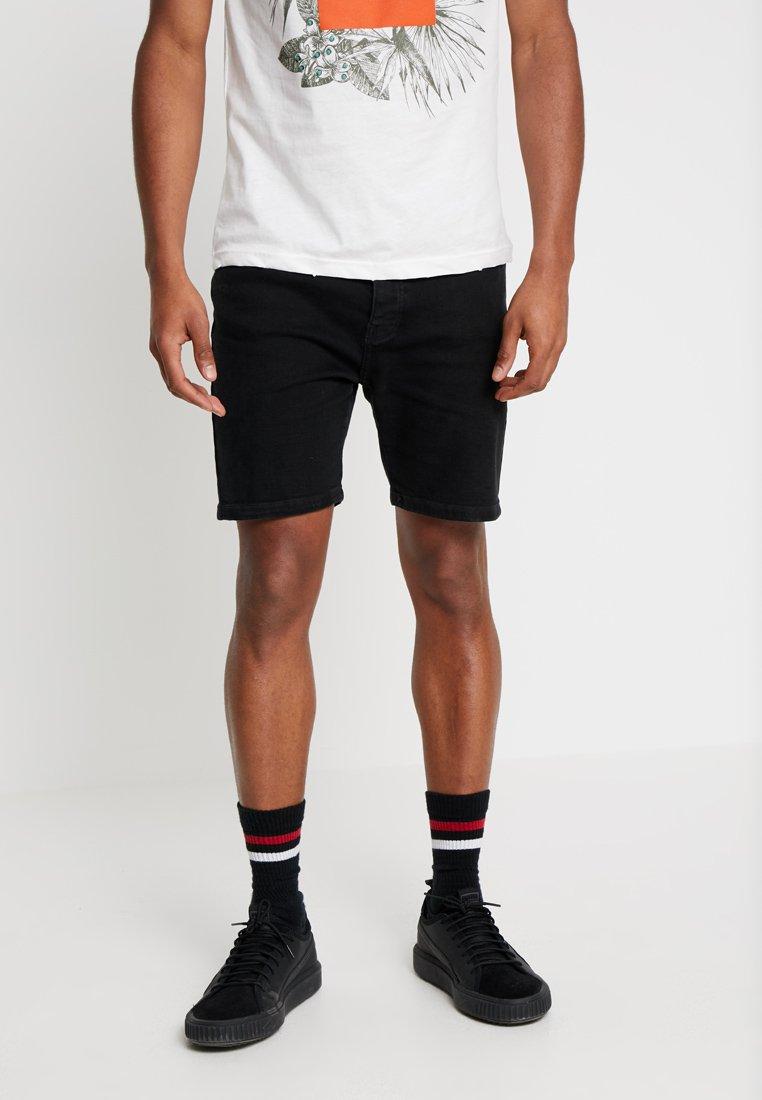 YOURTURN - Shorts vaqueros - black denim
