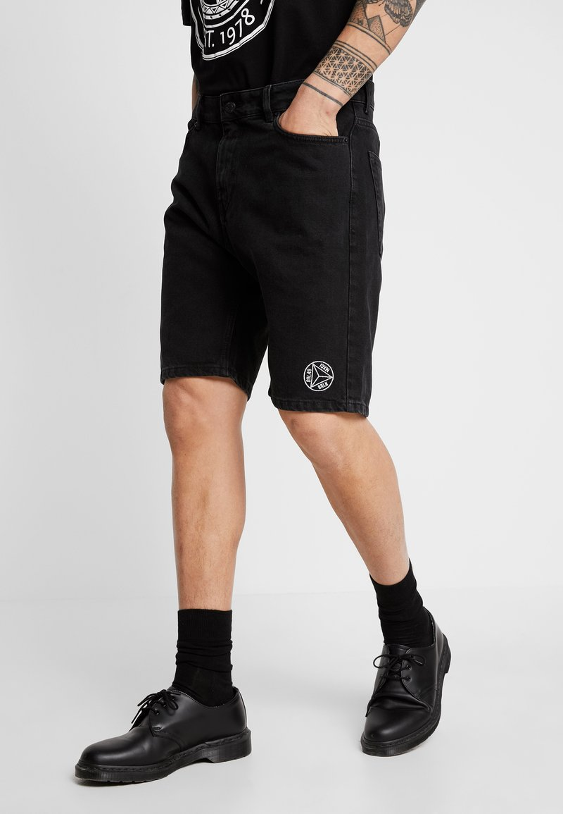 YOURTURN - Jeans Shorts - black
