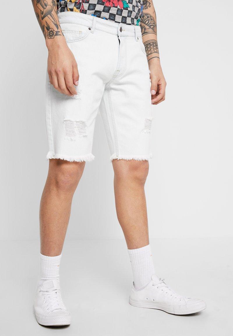 YOURTURN - Denim shorts - bleached denim