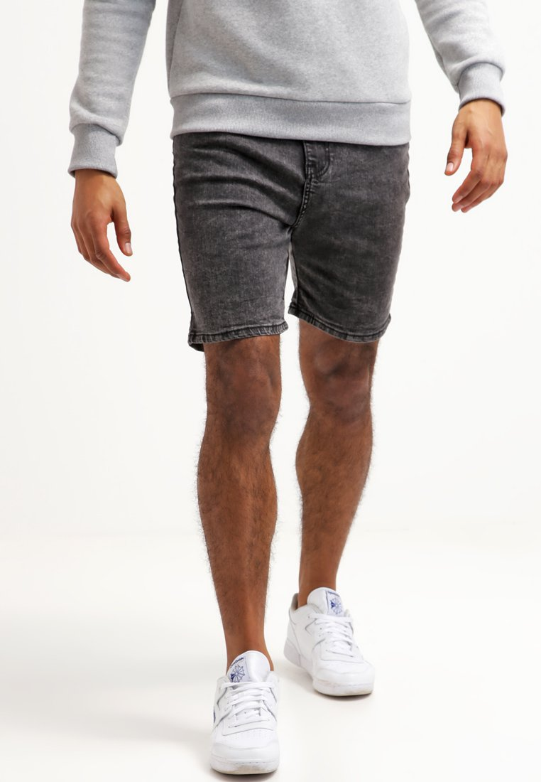 YOURTURN - Denim shorts - black moonwash