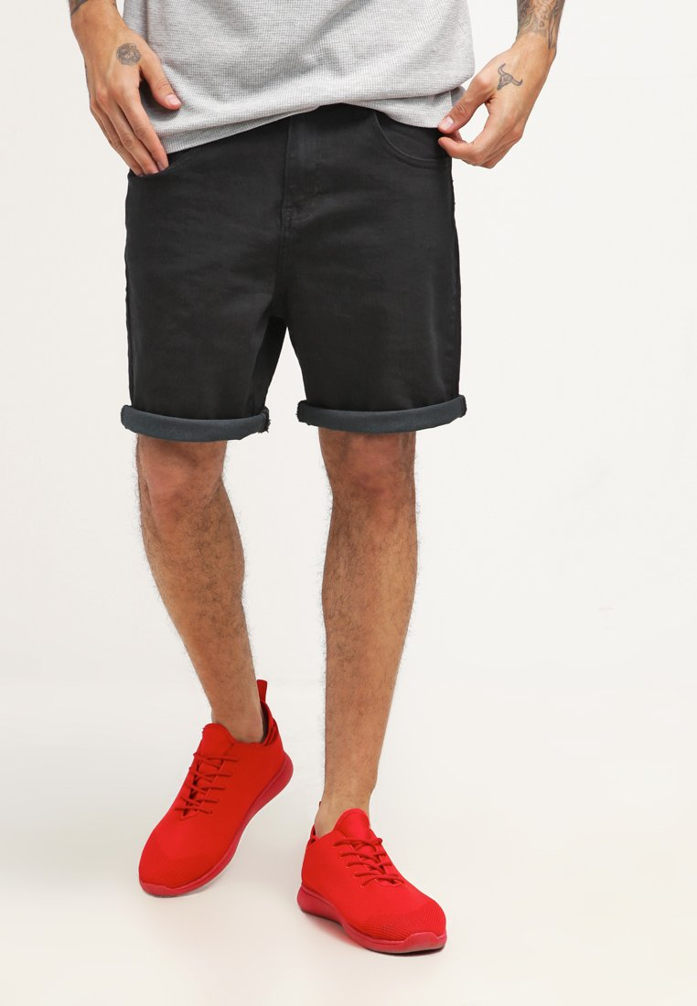 YOURTURN - Denim shorts - black