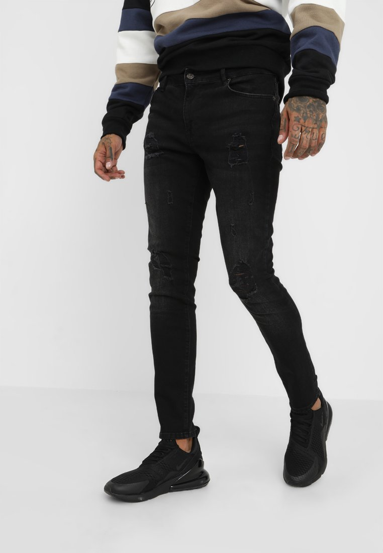 YOURTURN - Jeansy Skinny Fit - black denim