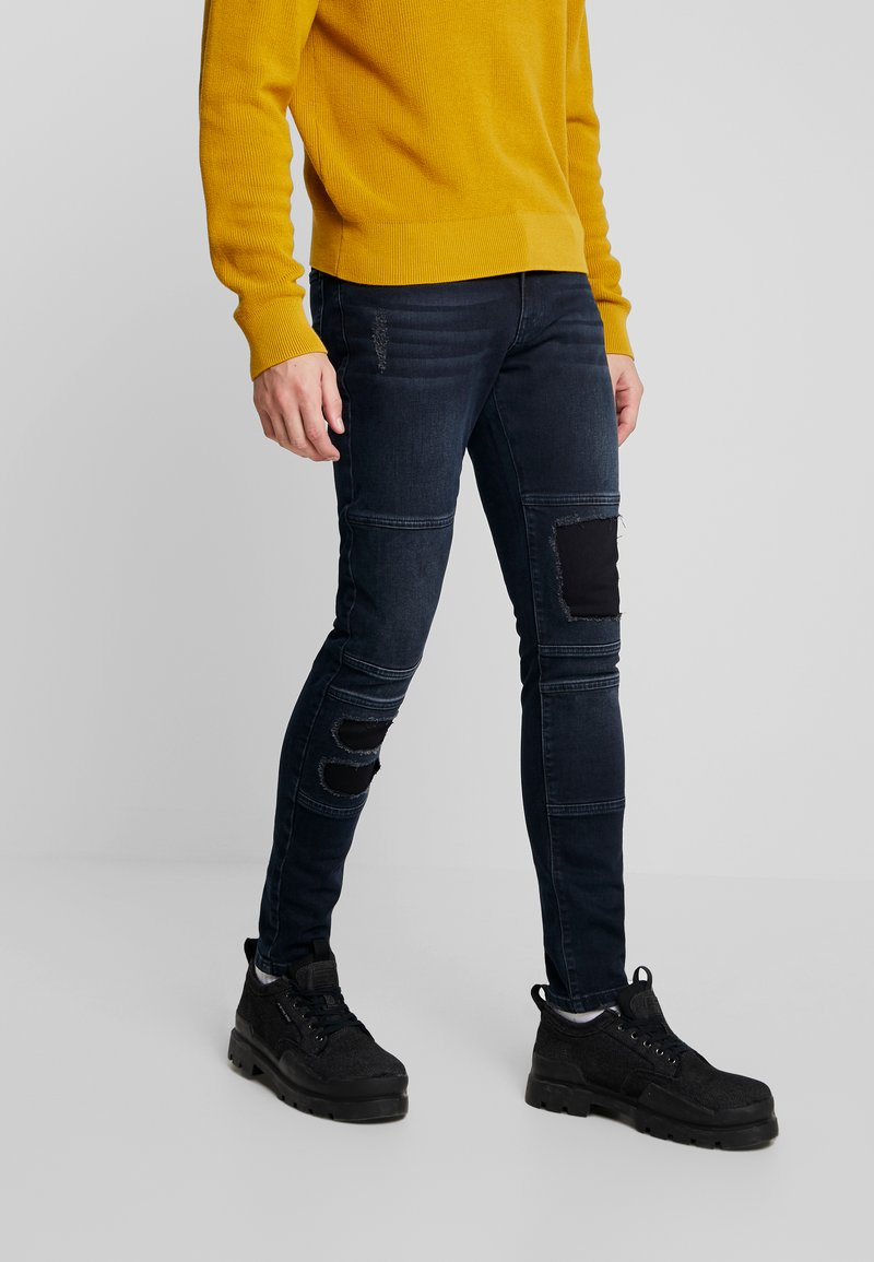 YOURTURN - Jeans slim fit - blue black denim