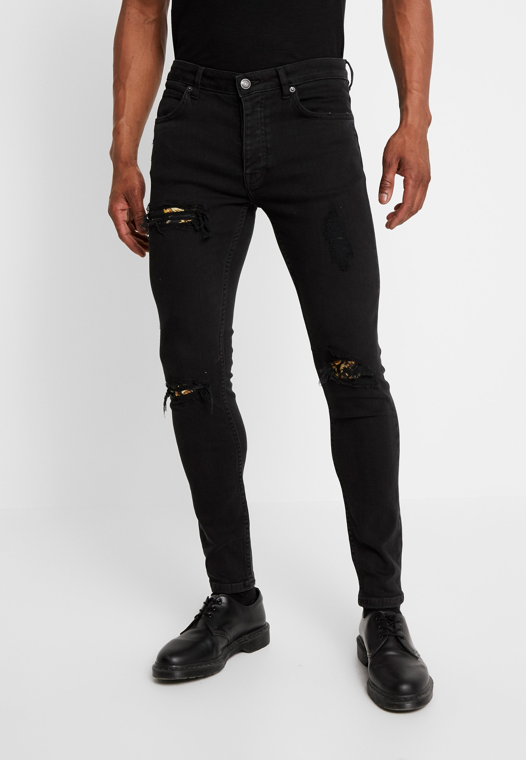 Black Denim Jeans Skinny Fit Yourturn wlZiOPXkuT