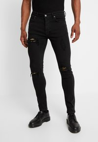 YOURTURN - Vaqueros pitillo - black denim - 0