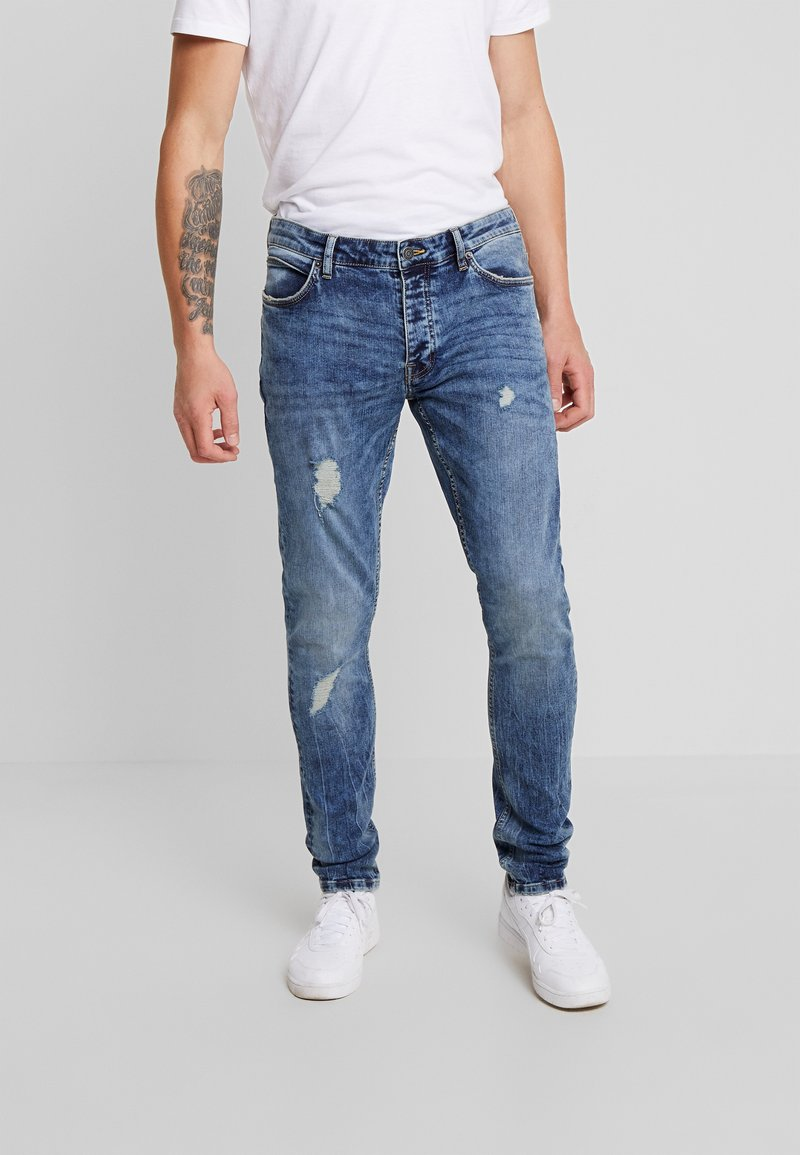 YOURTURN - Jeans Skinny Fit - dark blue denim