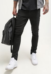 YOURTURN - Jeansy Slim Fit - black denim - 3