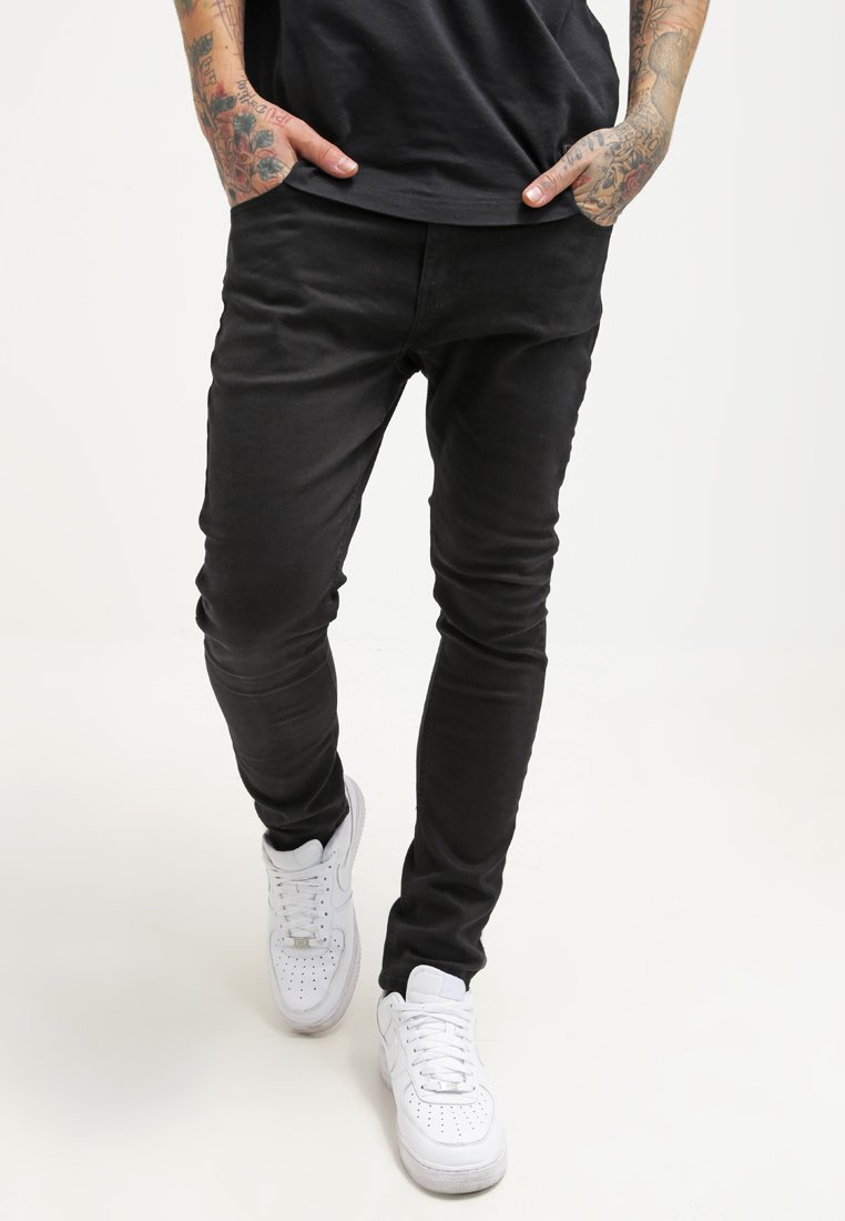 YOURTURN - Jeansy Slim Fit - black denim