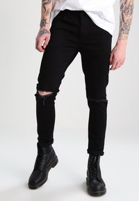 YOURTURN - Straight leg jeans - black denim - 0