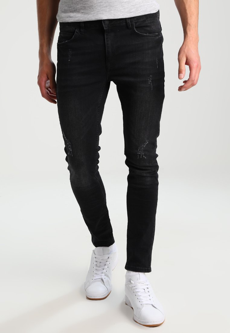 YOURTURN - Skinny džíny - black denim