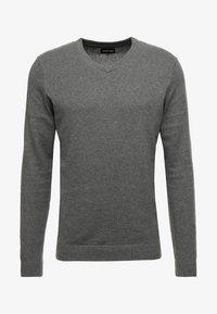 YOURTURN - Strikkegenser - mottled dark grey, mottled dark grey - 3